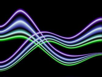 Gimp gemanipuleerde lijnen om een abstract effect te krijgen.